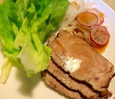 煮豚とラディッシュサラダ