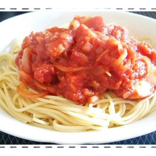 トマト缶とベーコンで作る簡単ちゃちゃっとパスタ