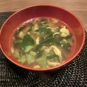 野菜たっぷり 玉子スープ