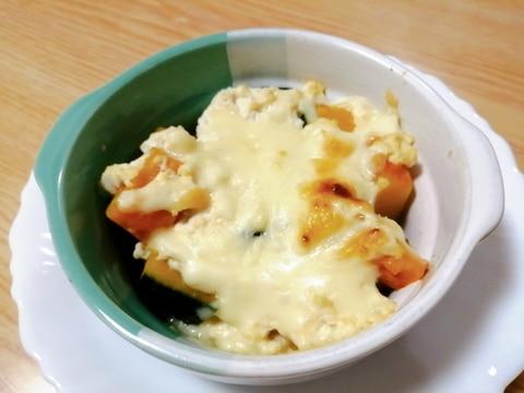 かぼちゃと豆腐のグラタン風~ホワイトソースなし