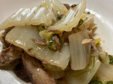 白菜と醤油サバ缶煮