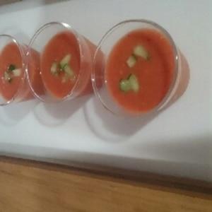 ボデガカップで トマトの冷製スープ(ガスパチョ)