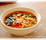 トマトの味噌風味中華スープ