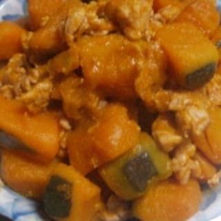 カボチャの豚肉煮