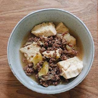 圧力鍋で!合挽き肉の肉豆腐