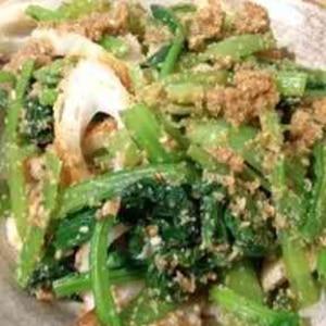 お弁当に✿ほうれん草と竹輪のごま和え❤