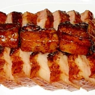 豚バラブロック肉のウスターソース煮