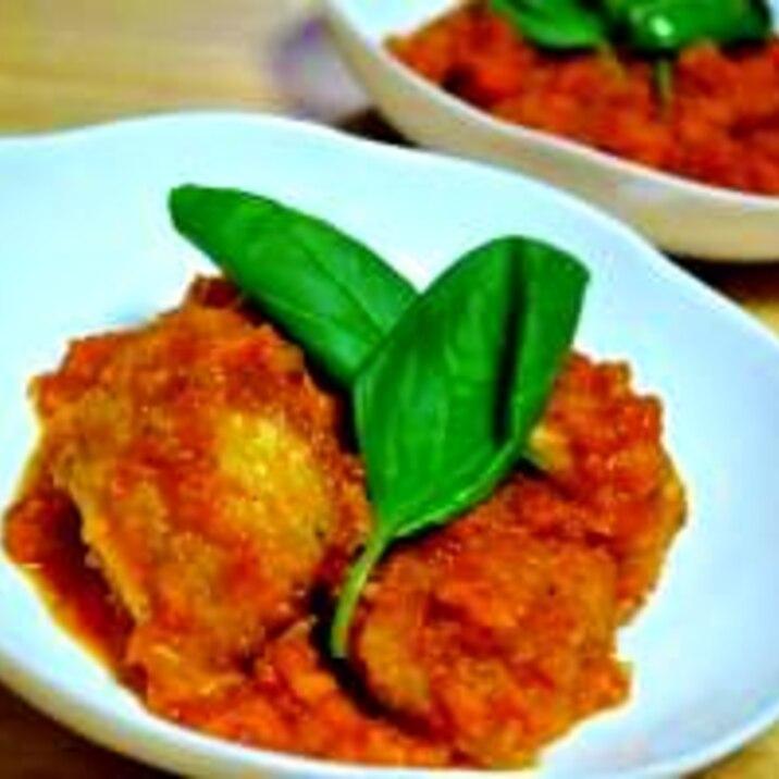 うちの本格野菜たっぷりトマトチキン煮込み