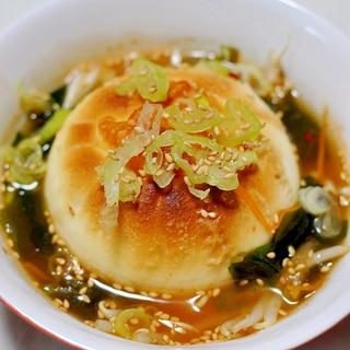 肉まんアレンジ★焼き肉まんのキムチスープ
