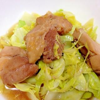 お手軽もう一品☆鶏肉とキャベツの昆布つゆ煮