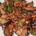 鶏もも肉の味噌野菜炒め