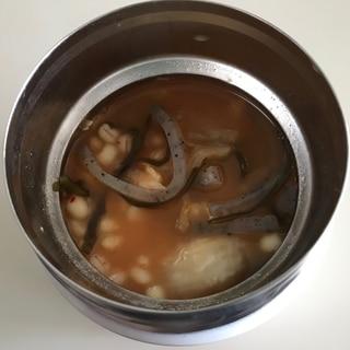 もち麦ダイエット キムチスープジャー弁当
