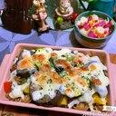 ハヤシルウdeごろごろ野菜の簡単フジッリグラタン