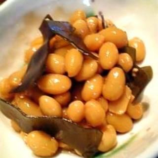 大豆の水煮を使って定番惣菜!大豆の昆布煮♪