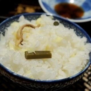 春爛漫、ほっき貝とタケノコの炊き込みご飯