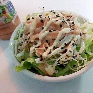 レタスとキャベツとえのき茸のごまマヨサラダ