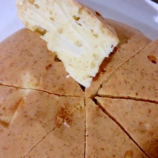 炊飯器でりんごと豆腐のホットケーキ