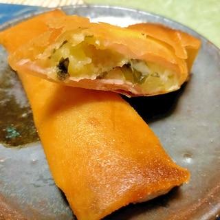 ■5分で..ポテトサラダ包んで揚げるだけ春巻き