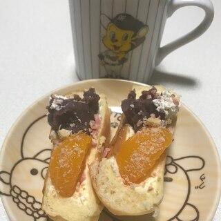 あんこホイップみかんいちごチョコクリームパン