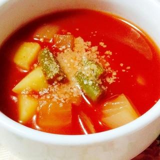 トマトジュースで♡野菜スープ