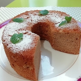 米粉 de 桜のシフォンケーキ