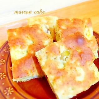 ホットケーキミックスで簡単♪マロンケーキ♡