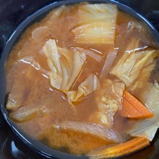 ෆ̈白菜の味噌汁ෆ̈