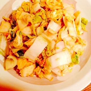 白菜の漬物リメイク☆卵との炒め物