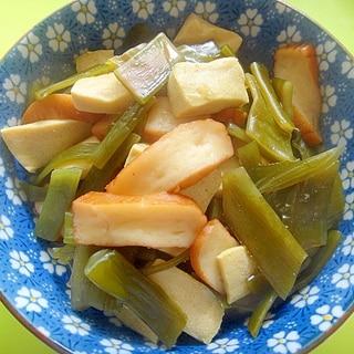 茎ワカメと高野豆腐さつま揚げの煮物
