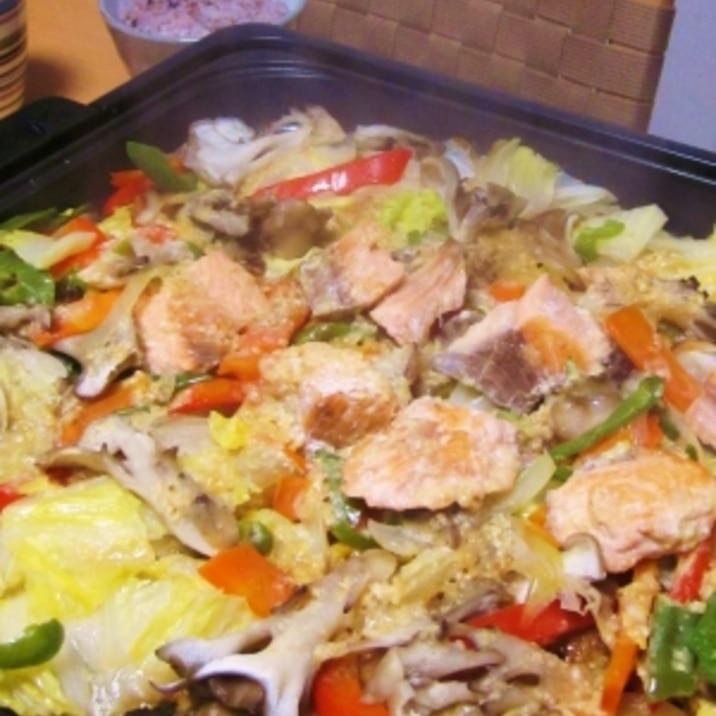 野菜たっぷり!! 鮭のちゃんちゃん焼き♪