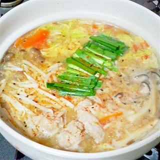 ぽっかぽか~♪とり野菜みそ味の鍋