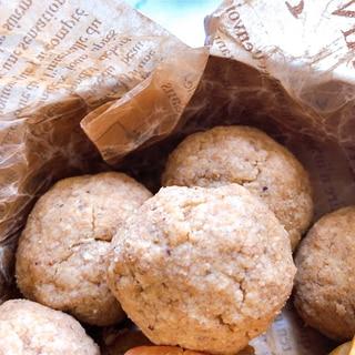ほろほろきな粉のスノーボールクッキー