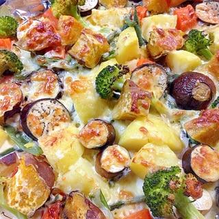 夏野菜のオーブンチーズ焼き