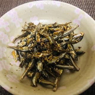 食べる小魚で代用♪おせち用の田作り
