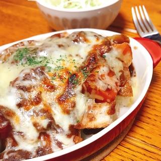 【変身料理】ビーフシチューでパングラタン!