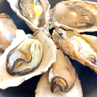 レンジでオードブル☆蒸し牡蠣オリーブオイルがけ