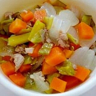 鶏肉と野菜の煮物(離乳食後期)
