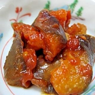 冷やして食べてもおいしい-☆茄子のトマト煮。