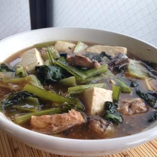 小松菜と豆腐のとろ〜り鯖缶煮♪