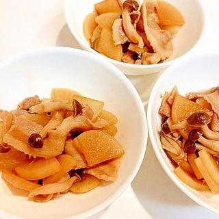コクうま☆豚バラ大根すき焼きのタレ炒め