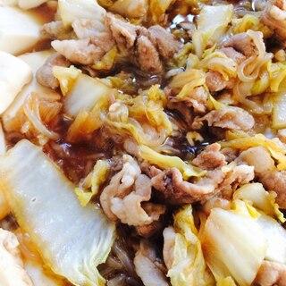 すき焼きのタレで簡単豚こま肉と白菜煮込み