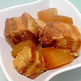 焼肉のたれで作る豚の角煮