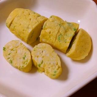 卵1個☆豆腐とねぎのレンジ卵焼き