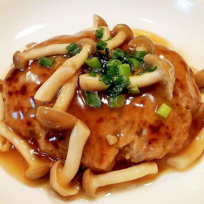♪豆腐入りでふんわり♡餡かけ和風ハンバーグ♪