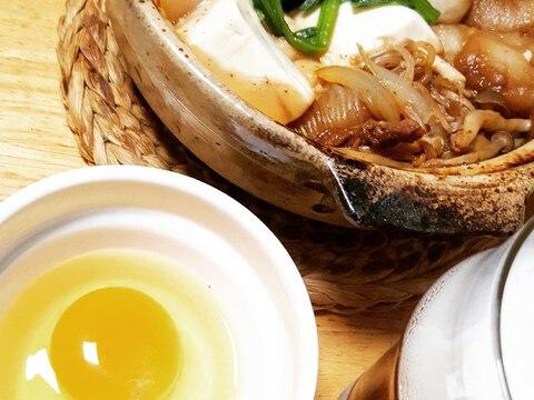 土鍋で煮込むポカポカすき焼き