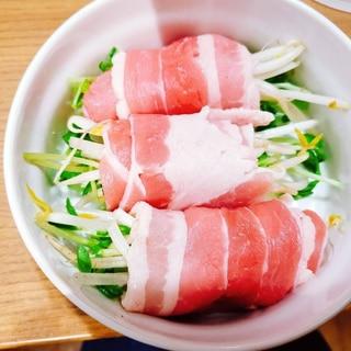 豆苗ともやしの肉巻き(冷凍用)