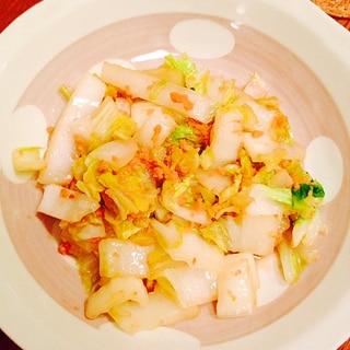鮭フレークと白菜炒め