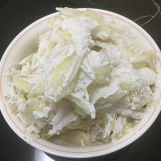 デラウエアとマシュマロココナッツのかき氷
