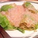 レンジでチン♪丸ごとレタスの中華風カニあんかけ☆