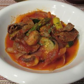 牛肉と野菜のトマトソース煮